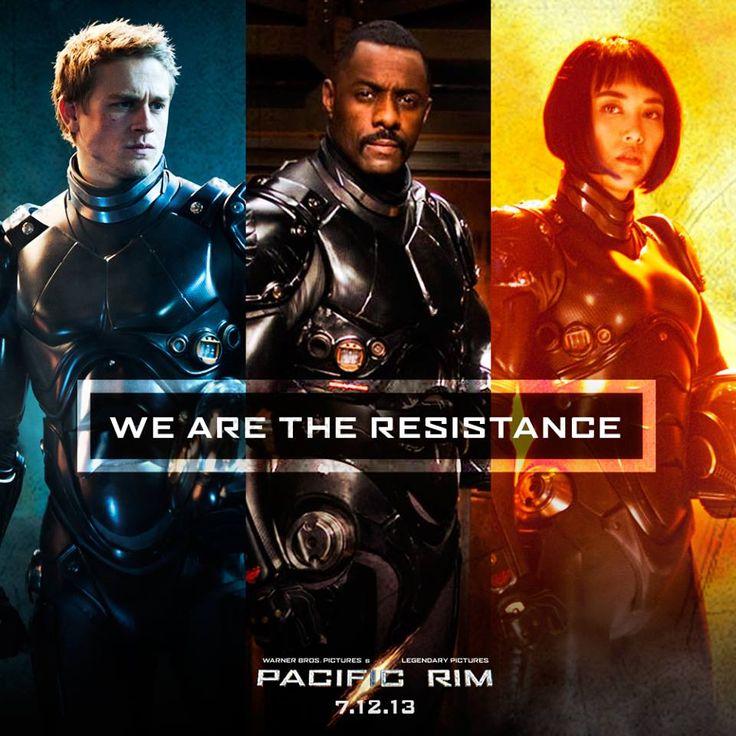 Pacific Rim (2013) - Charlie Hunnam as Raleigh Becket, Idris Elba as Stacker Pentecost, Rinko Kikuchi as Mako Mori
