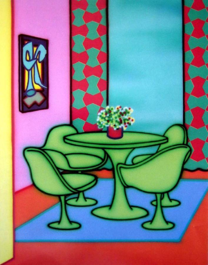 Howard Arkley Dining in a glow 1993