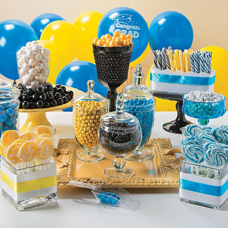 12 best images about decorating for royal blue and yellow for Decoration sweet table