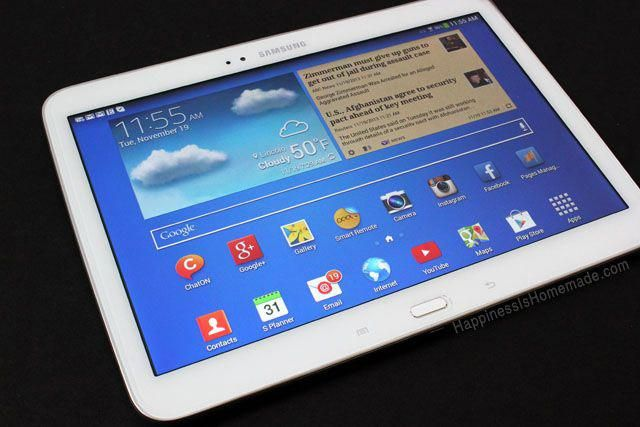 Samsung Galaxy Tab 3 10 1 inch Android Tablet - a blogging