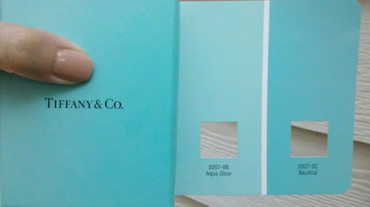 Looking for Tiffany Blue paint? Go for these two Valspar colors: Aqua Glow is subtler, Nautical is nearly dead-on exact! #tiffanyblue #aqua #tiffany #tiffanybluepaint