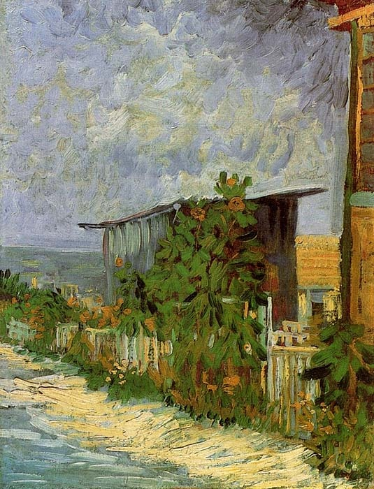 Vincent van Gogh. Montmartre Path with Sunflowers