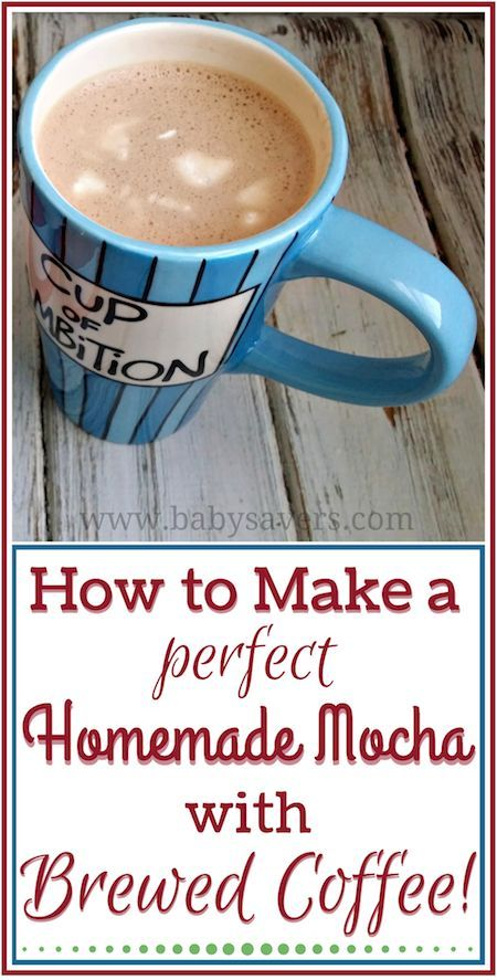 How to make a homemade cafe mocha with brewed coffee. I've been making one of these every morning- they're so good!
