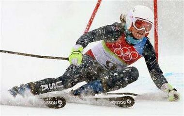 Julia Marie Mancuso is an American World Cup alpine ski racer and Olympic gold medalist. She won the giant slalom at the 2006 Winter Olympics, and was the silver medalist in both downhill and combined in 2010, and the bronze medalist in the combined in 2014. Her four Olympic medals are the most ever for a female American alpine skier. She has also won five medals (two silver and three bronze) at the World Championships and seven races in regular World Cup competition.
