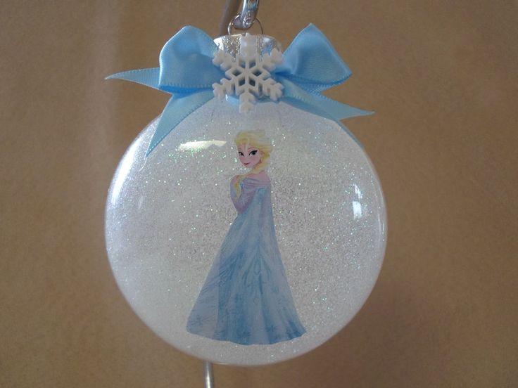 "Handmade Disney Frozen ""Elsa"" 3"" Round Glass Ornament, Made In The USA!, NEW!! #Disney"