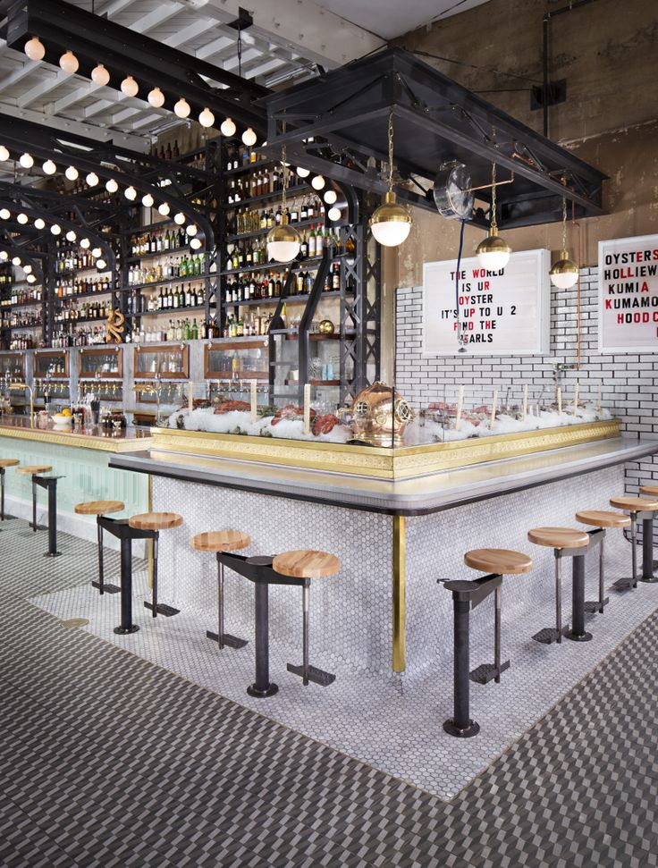 Love the Retro Urban Industrial Mood - Ironside Fish & Oyster Bar, Basile  Studio