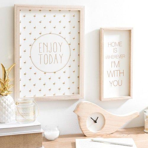 Horloge à poser en bois D 30 cm LINTU