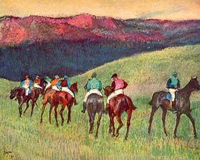 Horse racing The training - Edgar Degas, 1834-1917 - OldMastersOnline.com