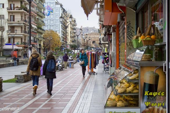 Pedestrianized street Demetrios Gounaris of Thessaloniki