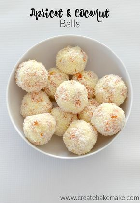 Three Ingredient Apricot and Coconut Balls - both regular and thermomix instructions included