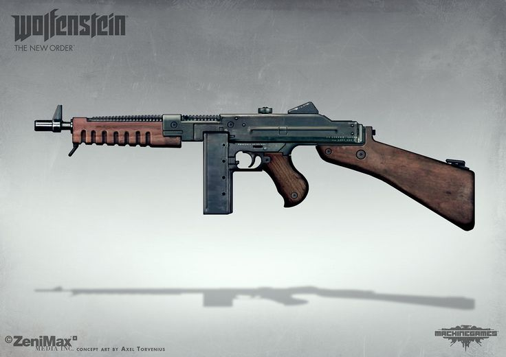 Concept art from Wolfenstein: The New Order - SMG, axel torvenius on ArtStation at https://www.artstation.com/artwork/concept-art-from-wolfenstein-the-new-order-smg