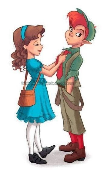 Peter Pan & Wendy, although he wouldnt be caught DEAD in that outfit!!! << Hey, if anybody could convince him, it'd be Wendy!