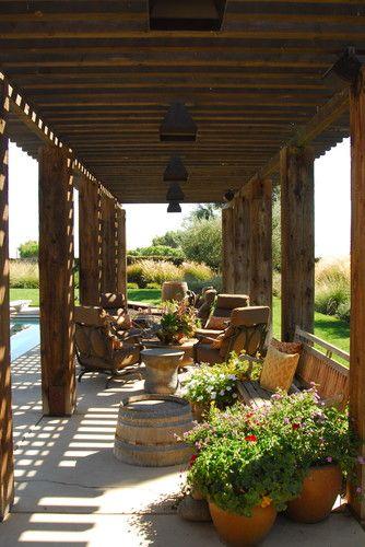 Napa Style Residence - mediterranean - patio - sacramento - Westfall Design Studio via @Brenda Taylor Haas