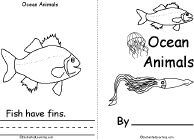 Ocean Animals Book, A Printable Book - EnchantedLearning.com