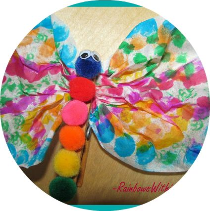 Coffee Filter Butterfly Craft Project via RainbowsWithinReach #newteachers #yearendroundup
