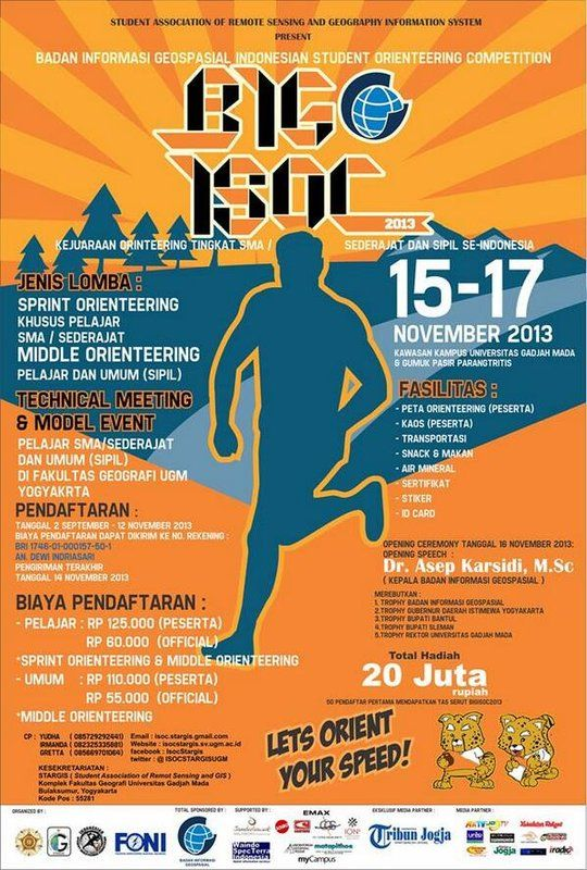 Badan Informasi Geospsial Indonesian Student Orienteering Competition 2013 http://bit.ly/16z6qKE