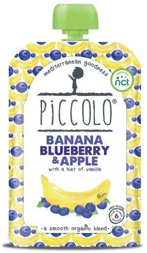 PICCOLO bio przecier +6m BANAN owocowa przekąska  sklep ze zdrową żwnością bio żywność biotojestto.pl