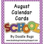 Enjoy this set of fun August Calendar Cards. Can also be used as counting cards for the little ones!     Visit my blog at  www.doodlebugsteaching.b...