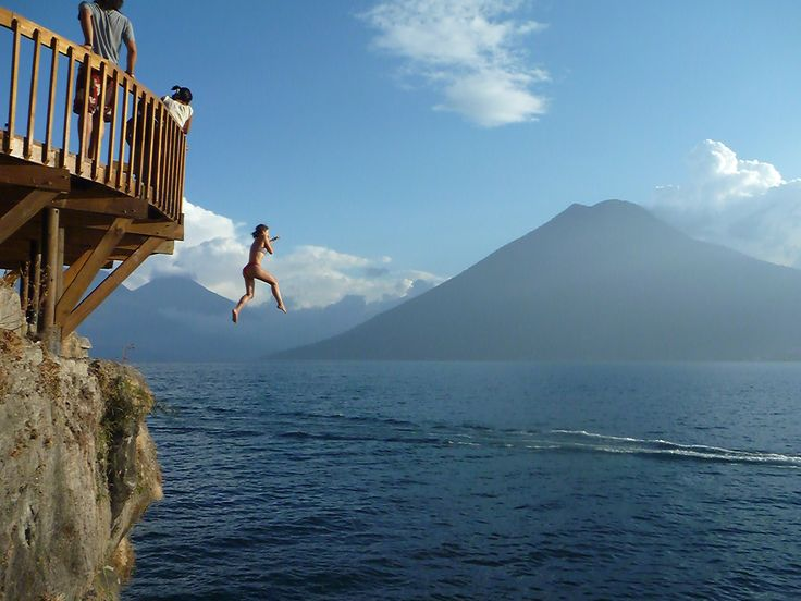 Cliff jumping in Lake Atitlan, Guatemala - Fabulous Travel Guide