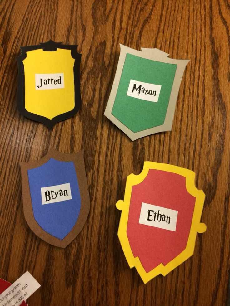 Sort the students, then put their crest name tags on their ...