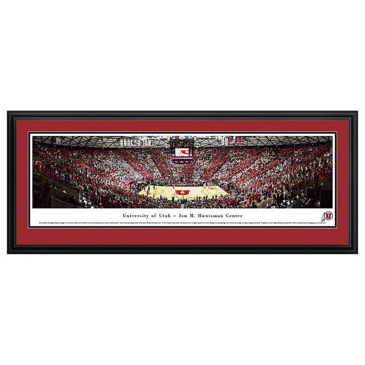 Utah Utes Basketball Arena Framed Wall Art, Multicolor