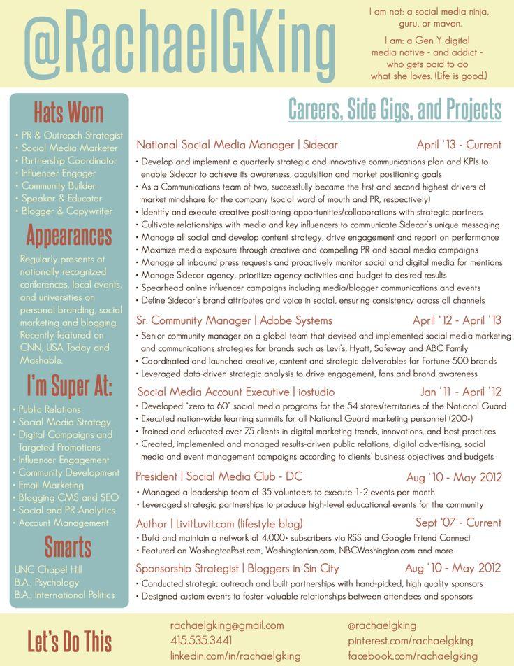 Updated Resume (March 2014):  Internet Site,  Website, Resume Example, Living Resume, Resume Boards, Pinterest Resume, 2014 Resume Social Work, Career Advice, Updates Resume