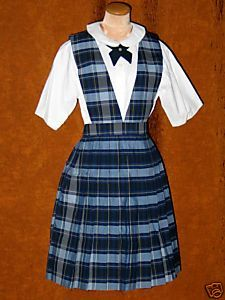 """Catholic School uniforms....yup.  wore a tie just like that one, with the """"Peter Pan collar"""" blouse"""