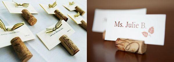 с использованием пробок для свадьбы в прованском стиле или свадьбы в стиле кантри