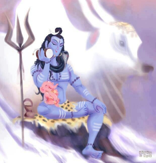 Shiva and Ganesh                                                       …