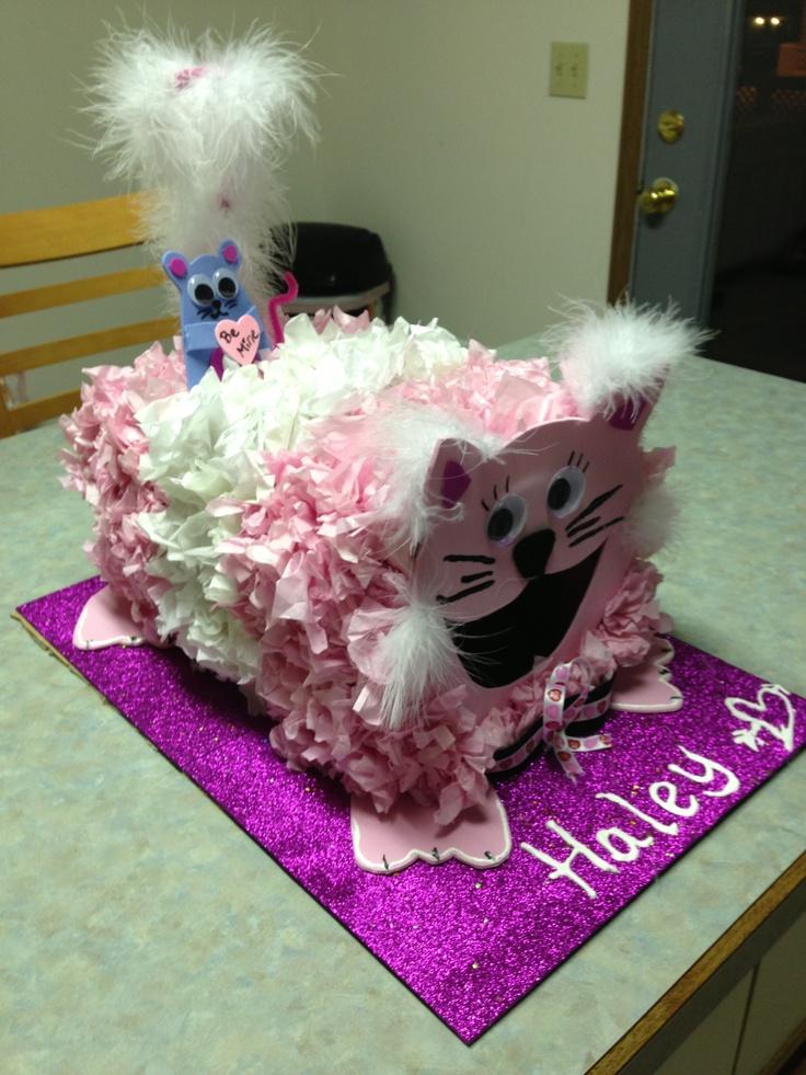 girls valentines day card box - Cat Valentine Box