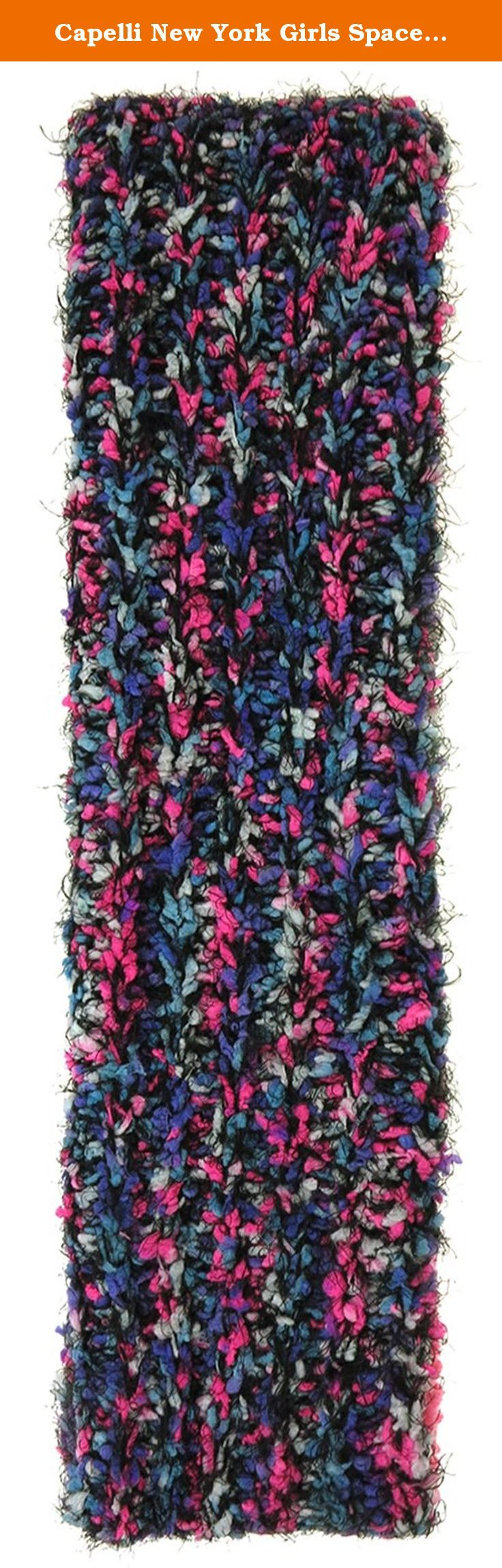 Capelli New York Girls Spacedye Multicolor Loop Scarf with Berber Lining Black One Size. Stay warm this winter in our large selection of Capelli New York cold weather accessories. Keep cozy in chunky knits or go bold in faux fur, our wide assortment of hats, earmuffs, scarves, gloves, and mufflers ensures you will be stylish during the cold winter months.