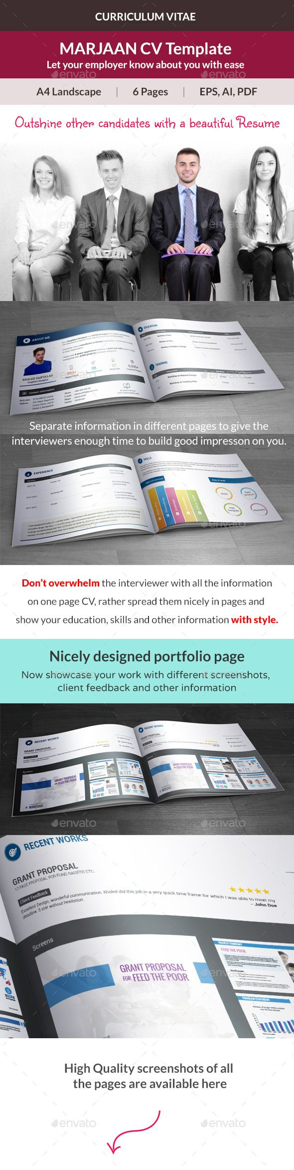 Clean Resume Download%0A Marjaan CV Resume Template