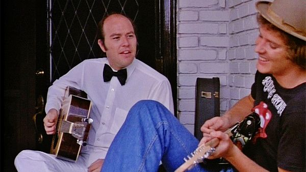 "Reggie Bannister and Bill Thornbury sing ""Sittin' Here at Midnight"" composed by Thornbury in the film PHANTASM 1979"
