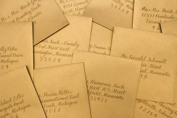 Wedding Calligraphy/ Gold Envelopes / Wedding Save the Date    @Goodday_design