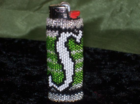 Saskatchewan Roughriders beaded lighter case  @bestinsask