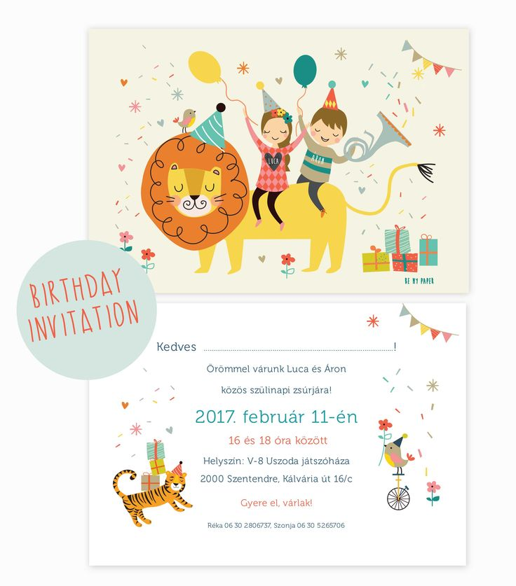 Birthday invitation card - Be My Paper