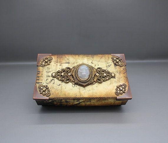 Handmade steampunk style gift or keepsake box by AnoniJewellery