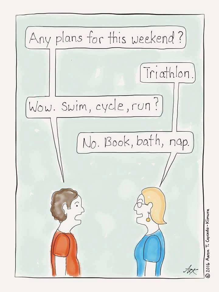 Now this is the kind of triathlon I can get behind.