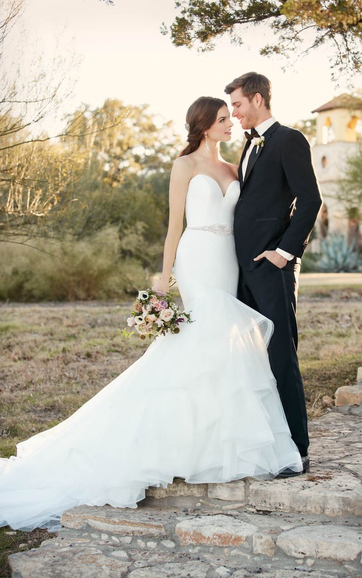 Deep sweetheart mermaid wedding dress by Essense of Australia available at The Bridal Cottage in NLR, AR