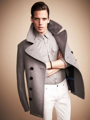 Eckford Peacoat by Burberry, $795