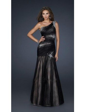 Quartilla robe de soiree mousseline a sequins