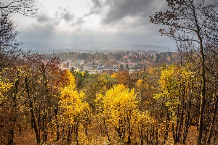 Kudowa Zdrój - Kudowa Zdrój view on the City from the hill view point