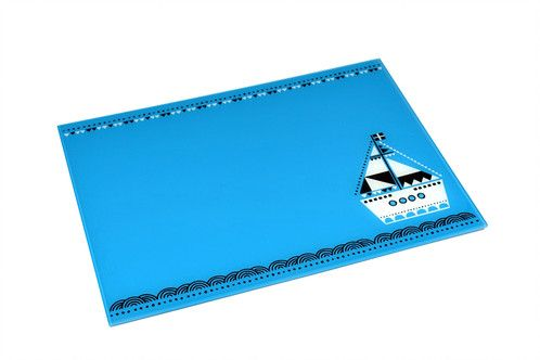 Boat | plexiglass placemat | screenprinted & lazer cutted | designed and made in Greece