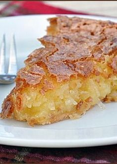 French Coconut Pie - the perfect texture and rich flavor is why this 140 year old recipe is a KEEPER