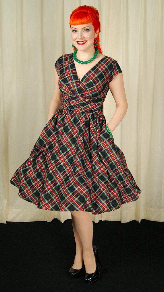 Plaid Eleanor Swing Dress – Cats Like Us