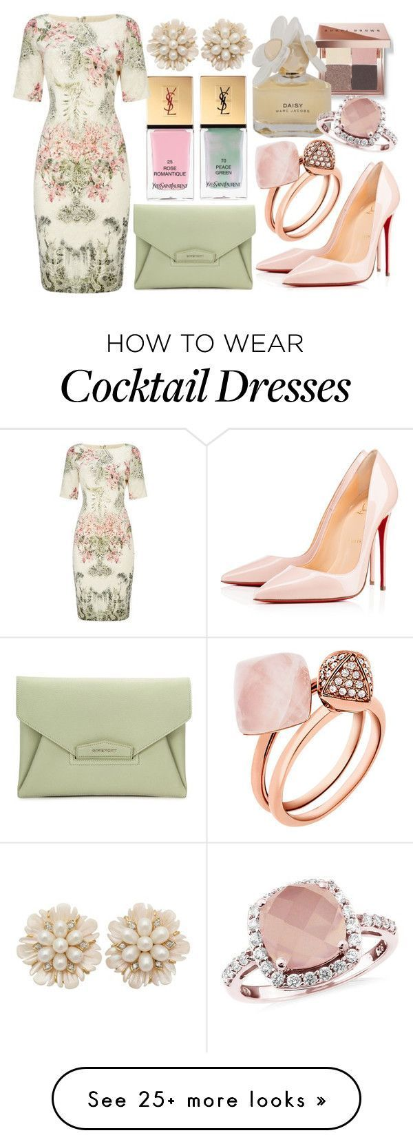 """""""Pink and green floral"""" by meta009 on Polyvore with Bobbi Brown Cosmetics, … …"""