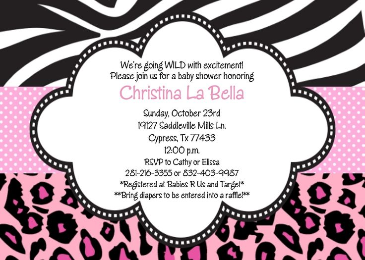the  best images about babyshower on   animal print, Baby shower invitation