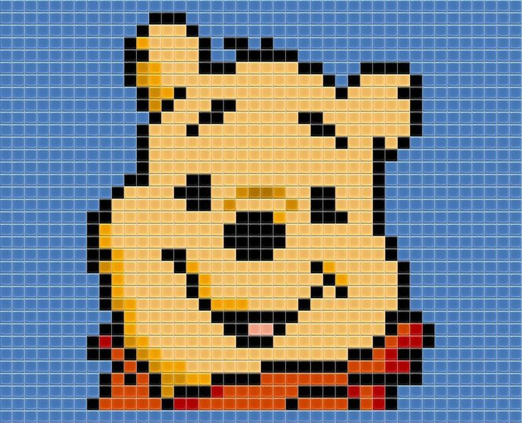 Winnie the Pooh hama perler beads by drsparc on @deviantART