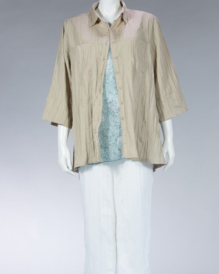 Animale beautiful shirt plain color - beige #WomenSkirt #Dress #SummerFashion #Animale #WomenWear #WomenFashion #MotifClothes #LightClothes