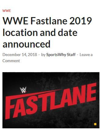 Vaz Zapp ⁓ Try These Wwe 2019 Pay Per View Schedule